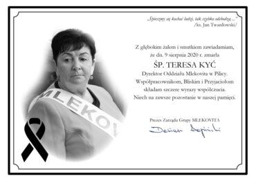 Odeszła Teresa Kyć -  Dyrektor Oddziału Mlekovity w Pilicy